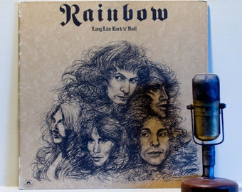 "ON SALE Ritchie Blackmore's Rainbow(w/Ronnie James Dio) Vinyl Record Album 1970s British Rock Heavy LP ""Long Live Rock 'N' Roll""(Orig.1978 P"