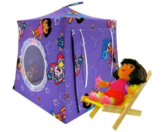 Toy Pop Up Tent, Sleeping Bags, purple, Dora print fabric