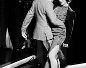 The Passionate Dancers 7x5 black and white, retro style fine art photograph