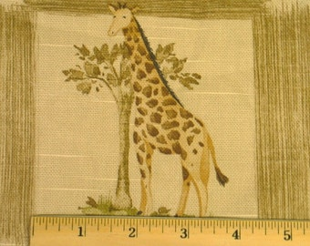 Waverly Drapery home Decor  Fabric  Animal Kingdom in natural  linen-One yard x 54 inches wide