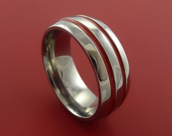 Titanium Band Custom Color Design Ring Any Size 3 to 22 Red, Green, Blue, Black Inlay