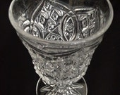 EAPG  Rexford Goblet c1910 St Martinsville Early American Patterned Glass