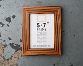 Exotic African Zebrawood Natural Finish Picture Frame (5x7)
