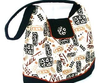 Hobo Brown Black Beige Hobo,  Abstract Shoulder Bag