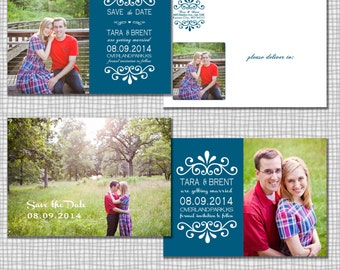 Mix N' Match Save the Date PSD Template for photographers