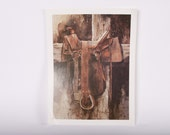 Arch Unruh Saddle Cowboy Art Print