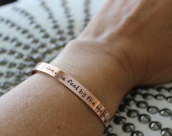 Sun and Moon Quote Copper Bracelet