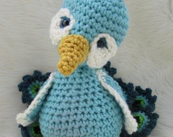 Crochet Pattern Peacock by Teri Crews Instant Download PDF Format Crochet Toy Pattern