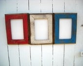 8x10 Picture Frame Set, Rustic Weathered Style With Routed Edges