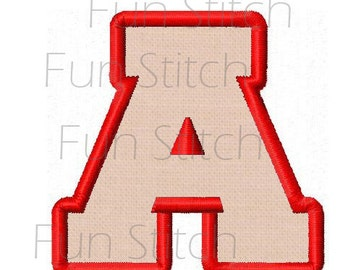 2 inches Varsity font applique letters instant download