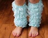 Mint Light Blue Lace Legwarmers - Girls Lace Legwarmers - Toddler Legwarmer - Baby Legwarmer