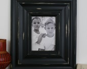 Sizes 4x4 to 8x8 Wood Picture Frame / Black or White / Madera Style