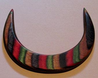 Dakota Dymondwood Crescent Hair Stick