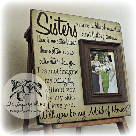 ... Sister Gift, Best Friend Gift, Maid of Honor, Personalized Picture