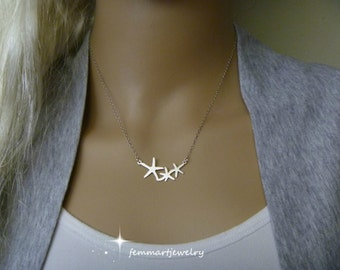 Silver Starfish Necklace Sea Star Jewelry Beach Wedding Bridesmaids Gifts Starfish Charm Silver