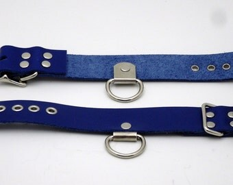 Leather wrist restraints, set of 2 - Free US Shipping