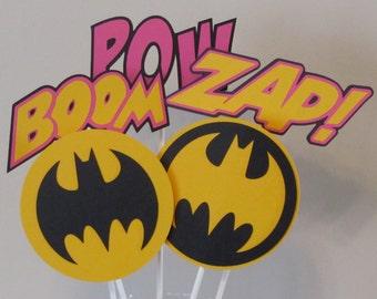 5 Piece Batgirl Centerpieces Batman
