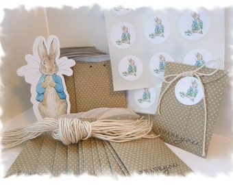 3 dozen seed packet favors - Perfect for a PETER RABBIT or other GARDEN themed party
