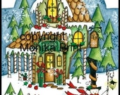 Cranberry's Gift Shop-EPattern-DIY-Christmas Decoration-Jigsaw Puzzle-Print-Painting-Christmas in July