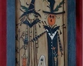 Halloween Couple-Primitive Halloween-Ghosts-DIY Painting Pattern-Scarecrow-Witches-Ghosts