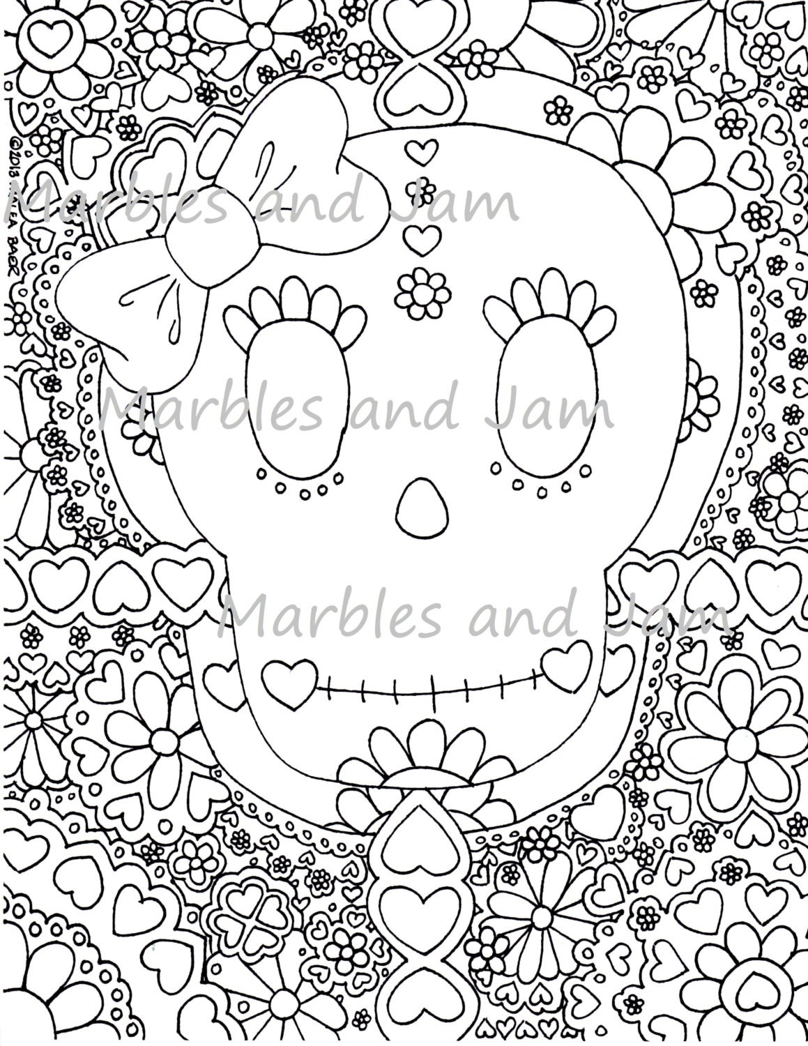 day of the dead sugar skulls coloring page dia de los muertos