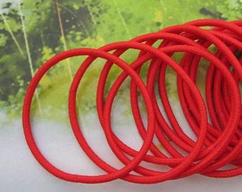 50pc Red hair elastics,ponytail elastics,ponytail holders