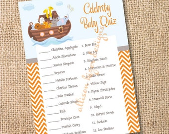 Noah's Ark - Printable Celebrity Baby Match Game - INSTANT DOWLOAD
