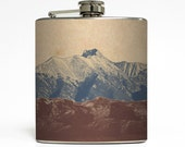 Camping Whiskey Flask Mountains Hiking Outdoors Climbing Nature Backpacking Adventure Gift Stainless Steel 6 oz Liquor Hip Flask LC-1041