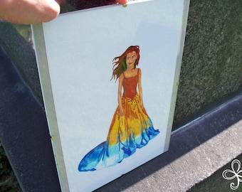 Brighid Watercolor Painting PRINT