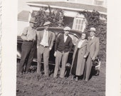 Vintage - Family and Old Car - Vintage Photograph - Vernacular - Found Photos (CCC)