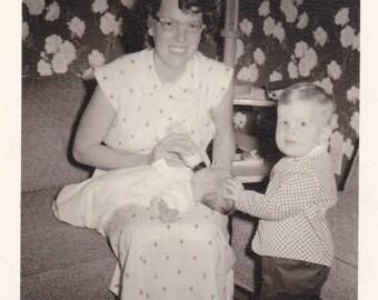 Mother Feeding Baby - Vintage Photograph (1B)