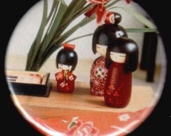 Darling Kokeshi Button