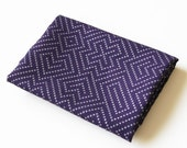 labyrinth tea towel - purple