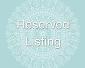 Reserved listing for RagingWool