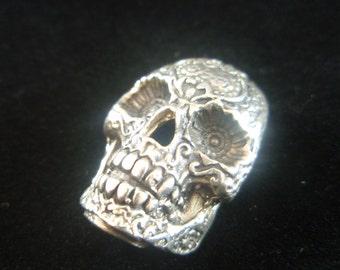 925 Sterling Silver Skull Shaped Pendant by a Designer Ezi Zino Pendant Necklace Jewelry Art