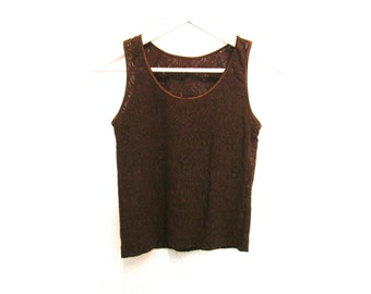 90's Sheer Lace Crop Tank size - S/M