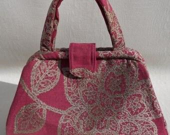 Fuchsia Retro Handbag