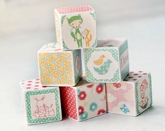 I Love You decorative wooden blocks