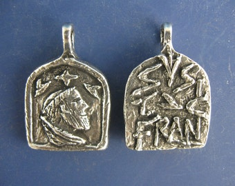 St. Francis, Patron of Animals and Veterinarians, Handmade Medal