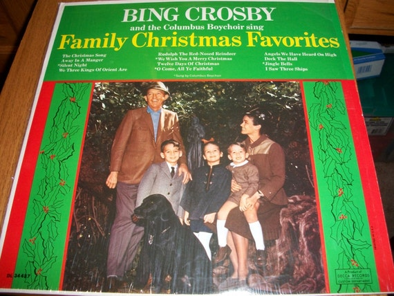 Bing crosby family christmas favorites christmas music lp vinyl