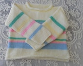 Childs sweater. roll neck, childs pullover,  unisex,  boy, girl, toddler, striped, playtime,  ready to ship.