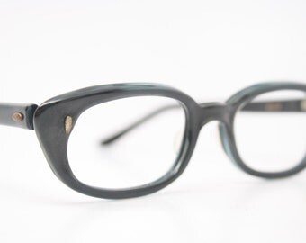 Blue Cat Eye Glasses Vintage Cateye Frames 1950s Eyeglasses