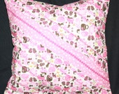 Girl's Room Decorator Pillow Cats and Kettles in Pink