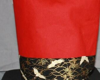 Bucket Bag Cranes on Red