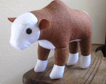 Plush Hereford Bull