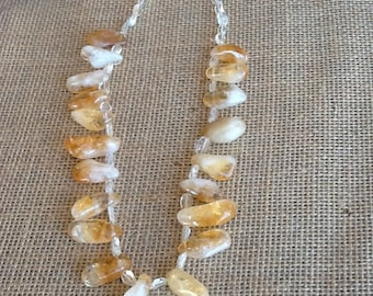 Amber necklace handcrafted with an elegant touch