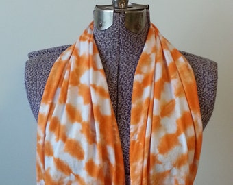 Tie Dye Infinity Scarf -- Orange Creamsicle