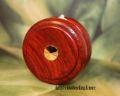 Handcrafted Cocobolo Yo-yo - DBassWoodworking