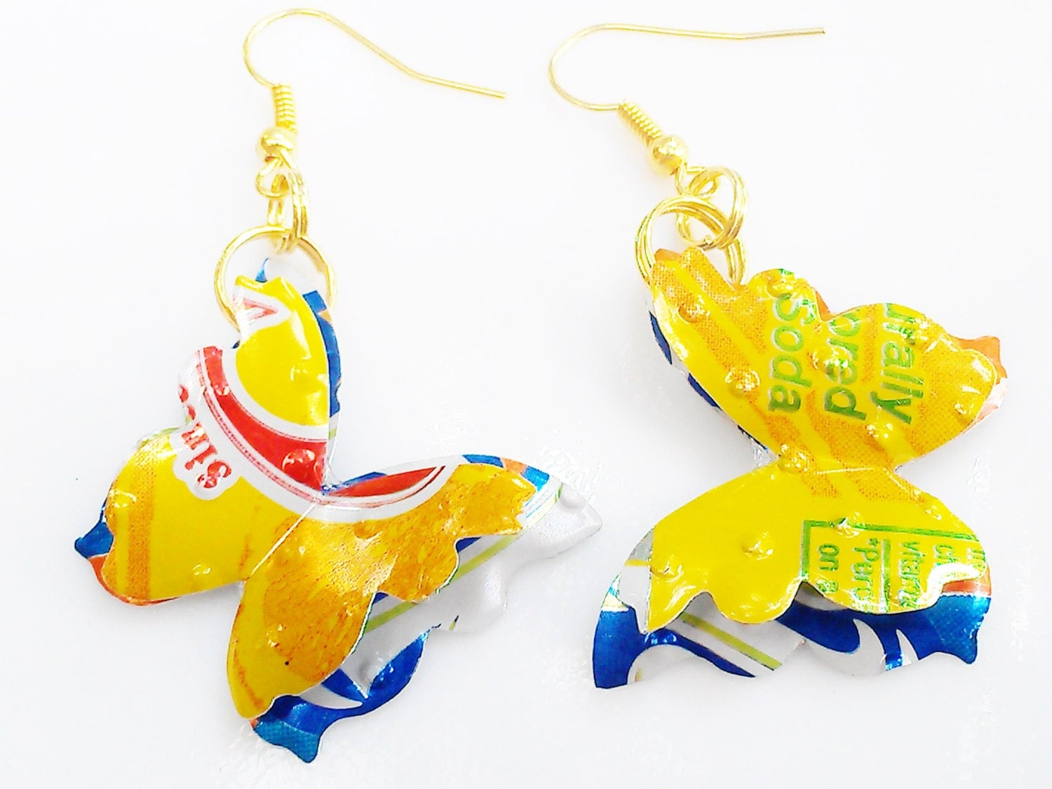 Recycled Squirt Sunkist Earrings Teen Girl Jewelry Gift Tween-3461
