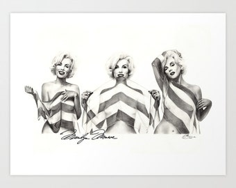 FREE SHIPPING - 20 Limited time offer Marilyn Monroe, Print, Paint the Moment, XL